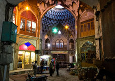 Inside a Bazaar in Iran. Interior of a market bazaar in Kashan, Iran (Persia royalty free stock photography