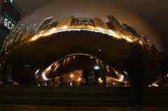 Inside the Bean - City Reflection Royalty Free Stock Photos