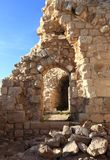 Inside Beaufort Crusader Castle, South Lebanon royalty free stock image