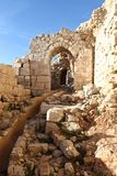 Inside Beaufort Crusader Castle, South Lebanon stock photos