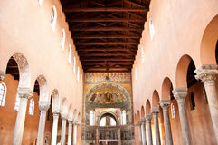 Inside a beautiful church with splendid architectu Stock Image