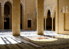 Inside Beautiful Mosque, Lebanon Royalty Free Stock Photography