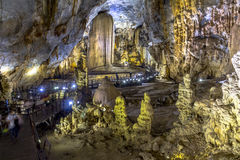 Inside beautiful Paradise Cave, Phong Nha Stock Photography
