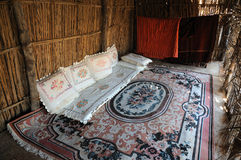Inside of a bedouin tent Stock Image