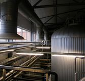 Inside beer factory Royalty Free Stock Images