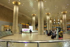 Inside Ben Gurion Airport Stock Photo