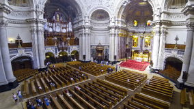 Inside the Berlin Cathedral (Berliner Dom), Germany stock video