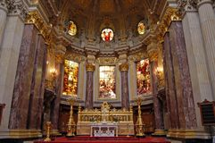 Inside the Berliner Dom. The altar inside the Berlin Cathedral Stock Images