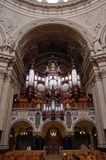Inside the Berliner Dom. The organ inside the Berlin Cathedral Stock Image