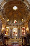 Inside the Berliner Dom. The altar inside the Berlin Cathedral Royalty Free Stock Photo