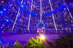 Inside big christmas tree stock photography