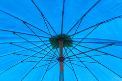 Inside of the big umbrella Royalty Free Stock Photography