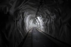 Inside Bike Trail Tunnel. Stock Photo