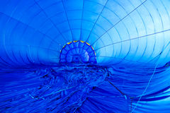 Inside of a blue aerostat Royalty Free Stock Image