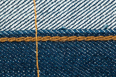 inside Blue denim jeans texture with seams Stock Photos