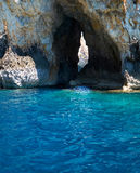 Inside Blue Grotto  on south part of Malta island Royalty Free Stock Photography