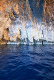 Inside Blue Grotto  on south part of Malta island Royalty Free Stock Images