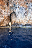 Inside Blue Grotto  on south part of Malta island Stock Photo