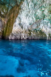 Inside Blue Grotto  on south part of Malta island. Inside Blue Grotto - nature landmark on south part of Malta island Stock Photos