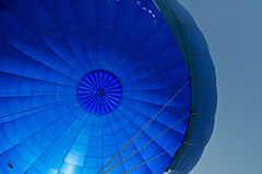 Inside of a blue hot- air balloon Royalty Free Stock Photos