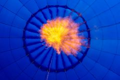 Inside a blue hot air balloon Royalty Free Stock Photography