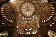 Inside the Blue Mosque, Instabul Stock Photo