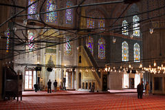Inside of Blue Mosque, Istanbul Stock Image