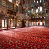 Inside The Blue Mosque in Istanbul Royalty Free Stock Photos