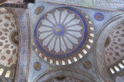 Inside the Blue mosque, Istanbul. Interior of the Blue mosque, Istanbul, Turkey Stock Photos