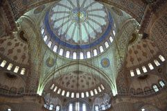 Inside the Blue Mosque, Istanbul Stock Photography