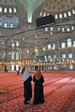 Inside the Blue Mosque, Istanbul Stock Image