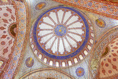 Inside of  Blue mosque in Istanbul, Turkey Royalty Free Stock Images