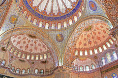 Inside the Blue mosque in Istanbul, Turkey Stock Photos