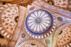 Inside Blue Mosque Stock Photography