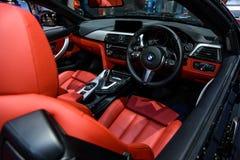 Inside of BMW 420d Convertible. Stock Photos