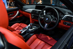 Inside of BMW 420d Convertible. Stock Photography