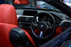 Inside of BMW 420d Convertible. Royalty Free Stock Photography