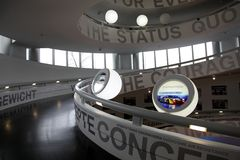 Inside BMW museum Royalty Free Stock Image