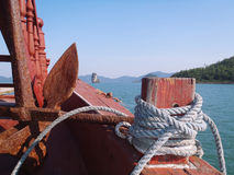Inside a boat sailing in Bai tu long Royalty Free Stock Images