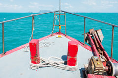 Inside of Boat tour look out window Stock Photography