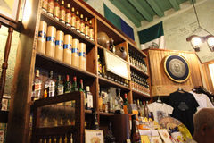 Inside the Bodeguita del Medio, Havana, Cuba Stock Photography