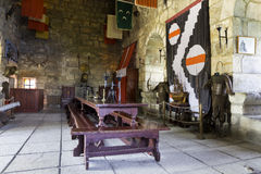 Inside of Bodrum castle royalty free stock images