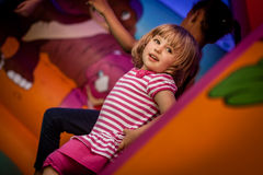 Inside bouncy castle Royalty Free Stock Photography