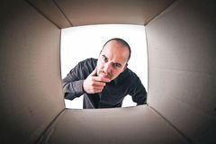 Inside a box Royalty Free Stock Photos