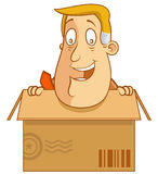 Inside a box Royalty Free Stock Image