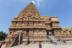 Inside the Brihadishwara temple in Tanjore (Thanjavur) in Tamil Nadu, South India Stock Image