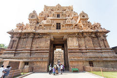 Inside the Brihadishwara temple in Tanjore (Thanjavur) in Tamil Nadu, South India Royalty Free Stock Images