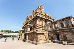 Inside the Brihadishwara temple in Tanjore (Thanjavur) in Tamil Nadu, South India Stock Image