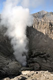 Inside of Bromo crater. Inside crater of vulcano Bromo, Java, Indonesia Stock Images