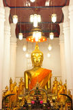Inside of Buddhist  church Royalty Free Stock Photos